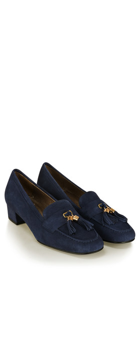 Gemini Label Shoes Ostruso Suede Tassel Loafer Marino Navy