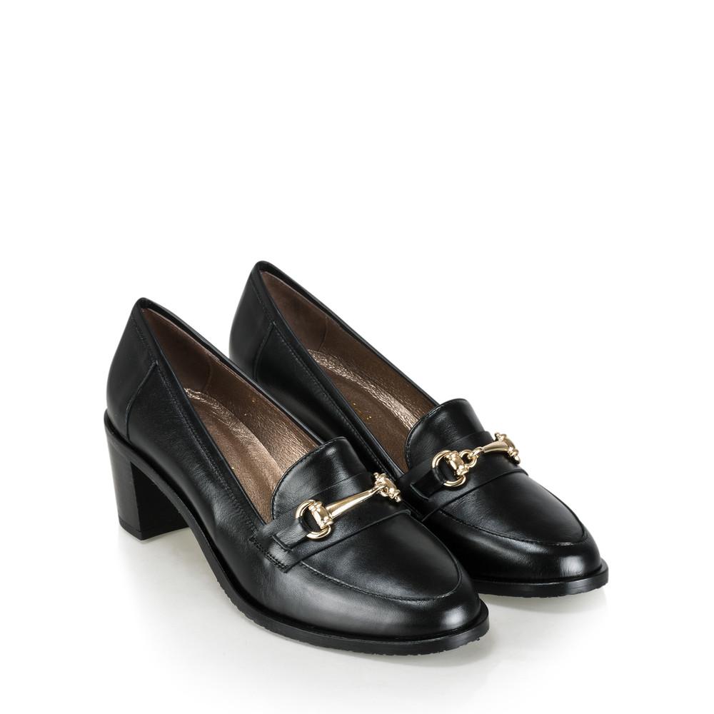 Gemini Label Shoes Rizardo Heeled Loafer Nero Black
