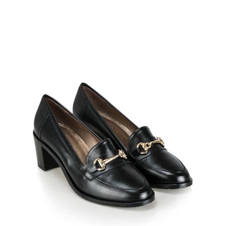 Gemini Label  Rizardo Heeled Loafer - Black