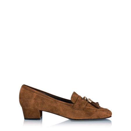 Gemini by GDF Ostruso Suede Tassel Loafer - Brown