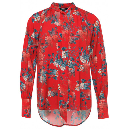 French Connection Kioa Crepe Top - Red