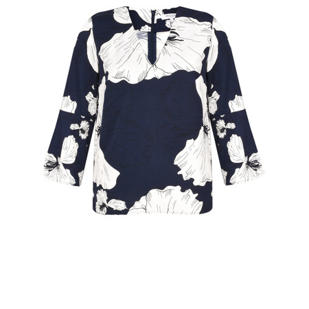 Great Plains Tropical Fauna Blouse - Blue