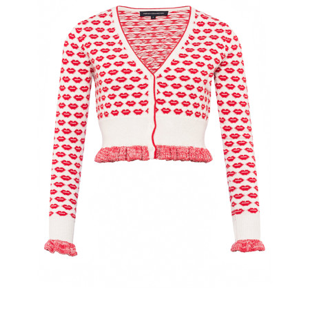 French Connection Kiss Knit Cardigan - White