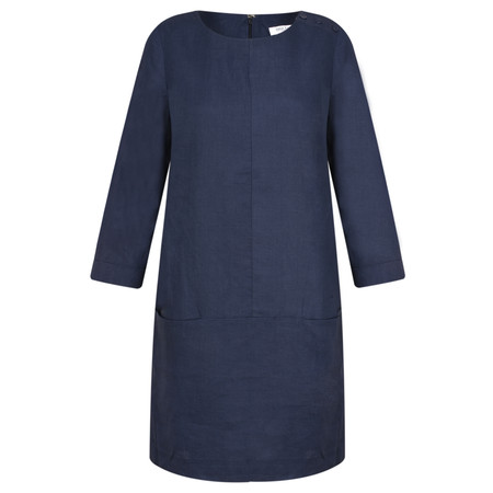 Great Plains Alana Linen Dress - Blue