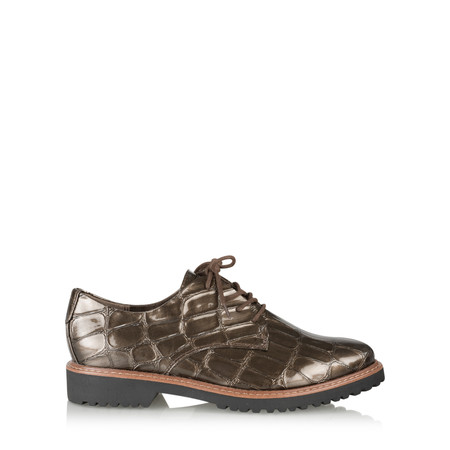 Marco Tozzi Dorothea Patent Lace Up Shoes - Red