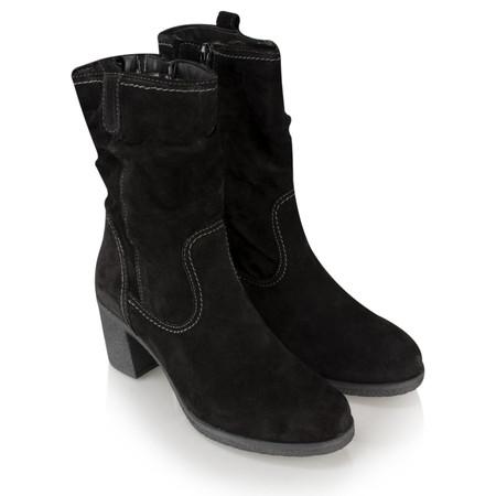 Tamaris  Clara Suede Midi Boot - Black