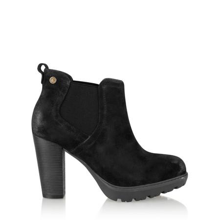 Carmela Suede Chelsea Ankle Boot - Black