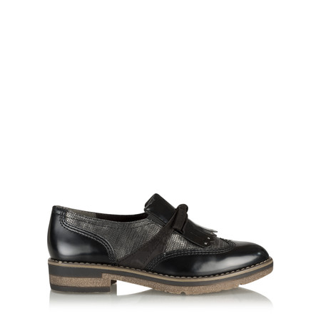Tamaris   Mila Fringed Loafer - Black