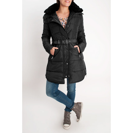 RINO AND PELLE Quilted Blush Coat - Black