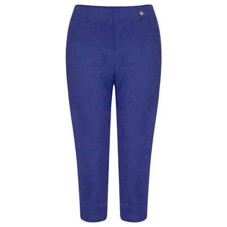 Robell Trousers Marie 07 Jacquard Trouser - Blue