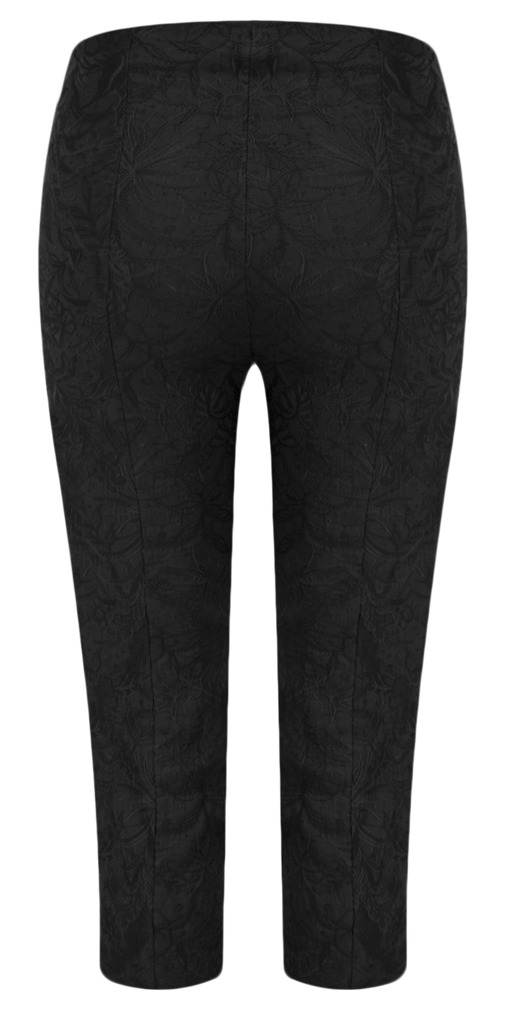 Marie 07 Black Jacquard Crop Trouser main image