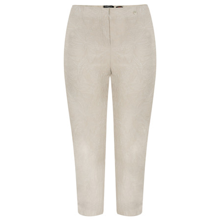 Robell Trousers Marie 07 Jacquard Trouser - Beige