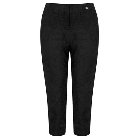 Robell Trousers Marie 07 Jacquard Trouser - Black