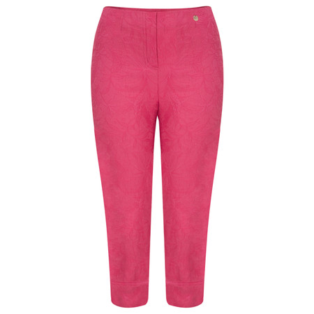 Robell Trousers Marie 07 Jacquard Trouser - Pink