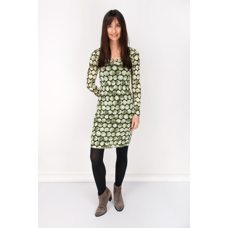 Sandwich Clothing Fitted Dress Polka Dot Print - Green