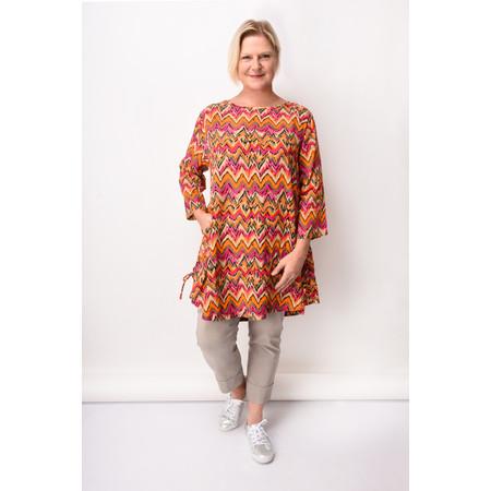 Masai Clothing Zig-Zag Print Guel Tunic - Orange