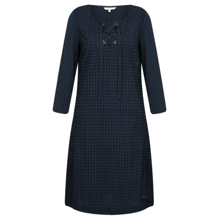 Sandwich Clothing Broderie Anglaise Dress - Blue