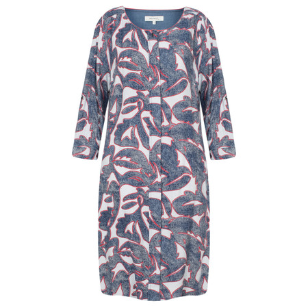 Sandwich Clothing Abstract Denim Inspired Dress - Blue