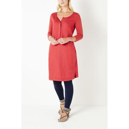Sandwich Clothing Linen Woven Dress - Red