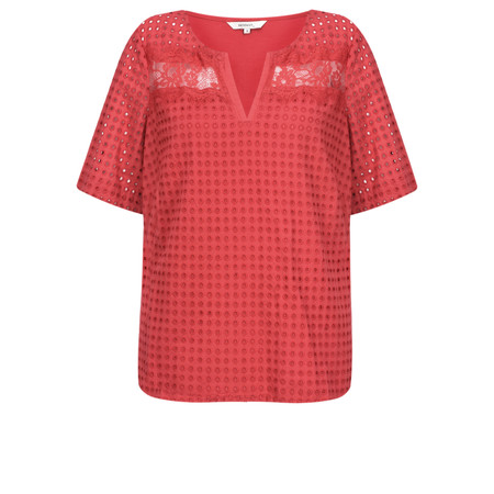 Sandwich Clothing Broderie Anglaise Blouse - Red