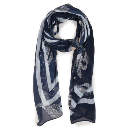Sandwich Clothing Victoria Weave Floral Scarf - Blue