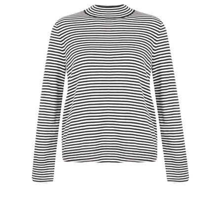 Great Plains Bella Basics Striped Jumper - Black
