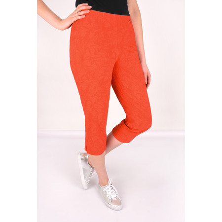 Robell Trousers Marie 07 Jacquard Trouser - Orange