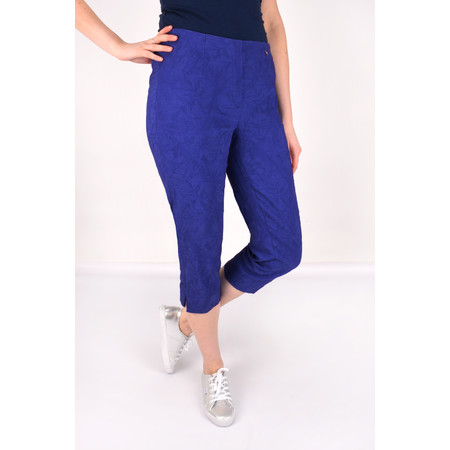 Robell Trousers Marie 07 Jacquard Trouser - Blue