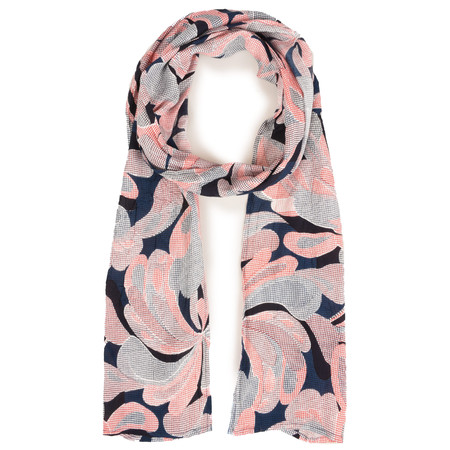 Masai Clothing Graphic Floral Along Scarf - Pink
