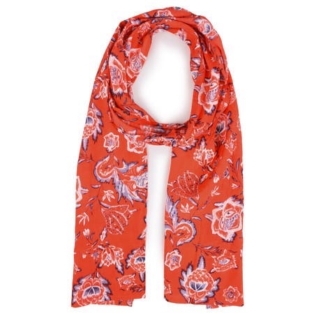 Masai Clothing Along Floral Poppy Scarf - Pink