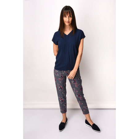 Sandwich Clothing Printed Cropped Trouser - Blue