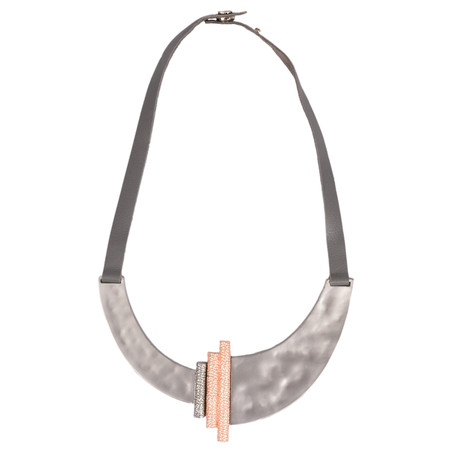 Dansk Smykkekunst Trixie Bar Necklace - Grey