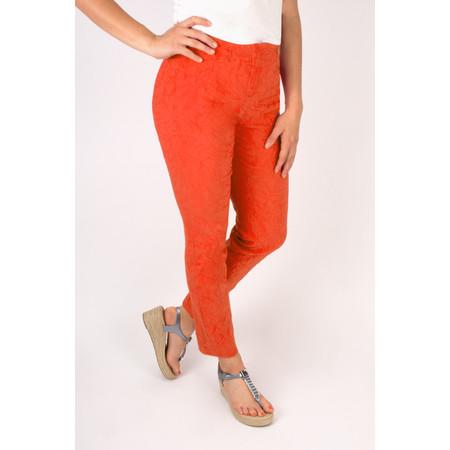 Robell Trousers Rose 09 Jacquard Slimfit 7/8 Trouser - Orange