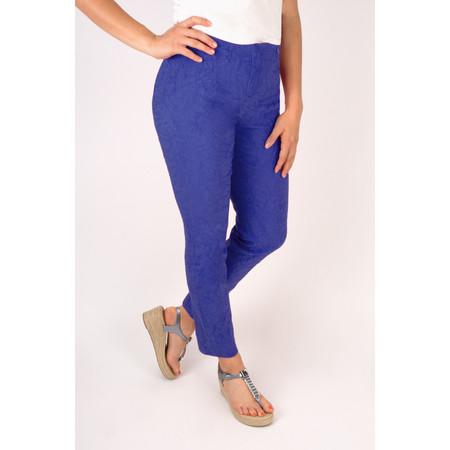 Robell Trousers Rose 09 Jacquard Slimfit 7/8 Trouser - Blue