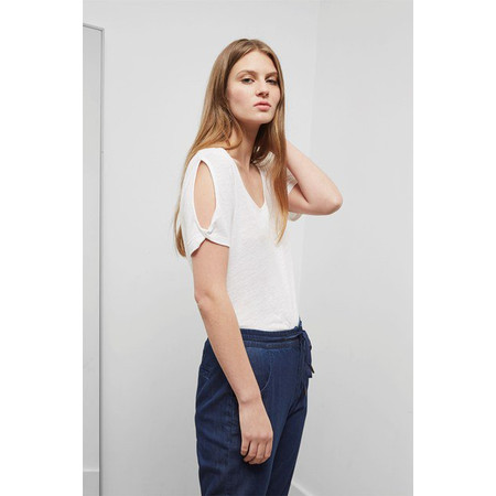 Great Plains Lucy Linen Top - White