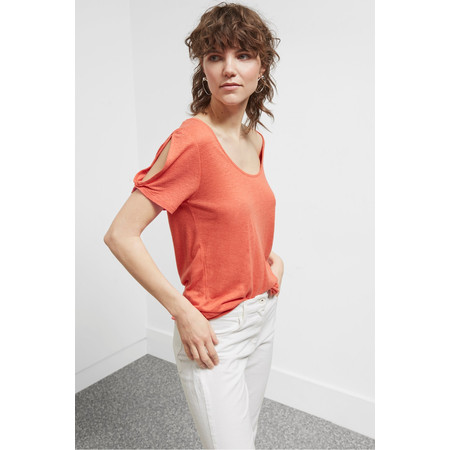 Great Plains Lucy Linen Top - Brown