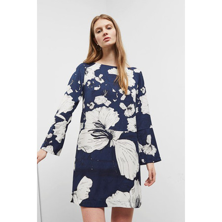Great Plains Tropical Fauna Dress - Blue