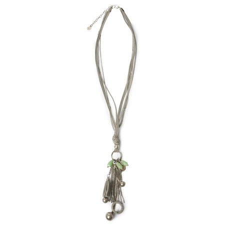 Sandwich Clothing Pendant Necklace - Green