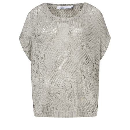 Lauren Vidal Will Luxury Loose Knit Top - Beige