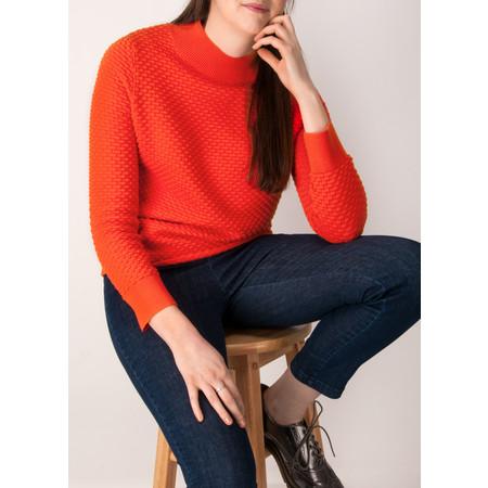 Great Plains Kimara Rib Detail Cotton Jumper - Red