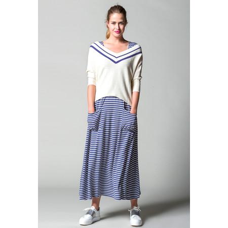 Myrine Dahlia Bicolour Knit - White