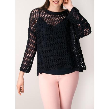 Lauren Vidal Yuka Crochet Knit Jumper - Blue