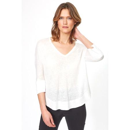 Lauren Vidal Essential Linen Jersey EasyFit Top - White
