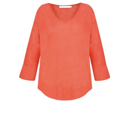 Lauren Vidal Essential Linen Jersey EasyFit Top - Orange