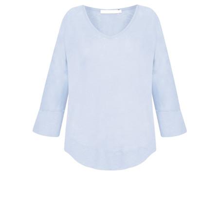 Lauren Vidal Essential Linen Jersey EasyFit Top - Blue