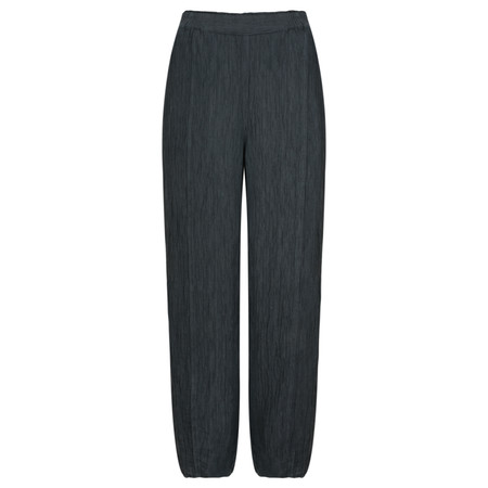 Grizas Alina Solid Crinkle Trouser  - Grey