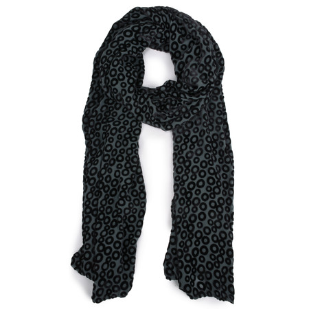 Grizas Migle Devore Circle Scarf - Grey