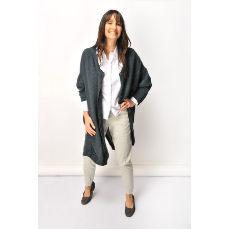 Grizas Martyna Solid Crinkle Jacket - Grey