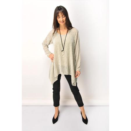 Grizas Evelina Devore Circle Tunic - Beige