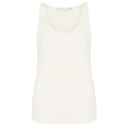 Lauren Vidal Essential Soft Jersey Top - White